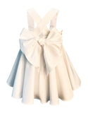 Helena and Harry Girl's Blush Pink Ruffles and White Cotton Sundress