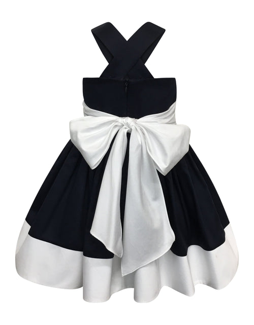 Helena and Harry Girl's Navy, White and Red Fine Cotton Sundress