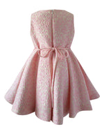 Helena and Harry Girl's Pink Jacquard Dress