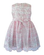 Helena and Harry Girl's Pink Lace Left Side Bow Dress