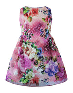 Helena and Harry Girl's Printed Lace Dress