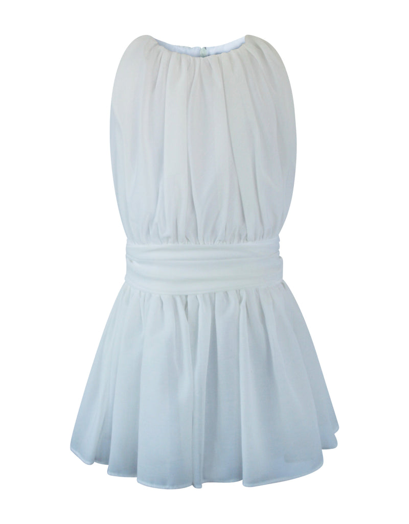 Helena and Harry Girl's Ivory White Chiffon Dress