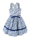 Helena and Harry Girl's Royal Print Sundress