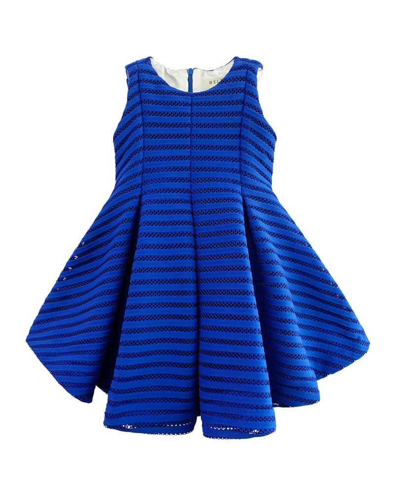Helena and Harry Girl's Blue Heavy Knit Stripe Dress