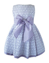 Helena and Harry Girl's White Eyelet & Lavender Taffeta Dress