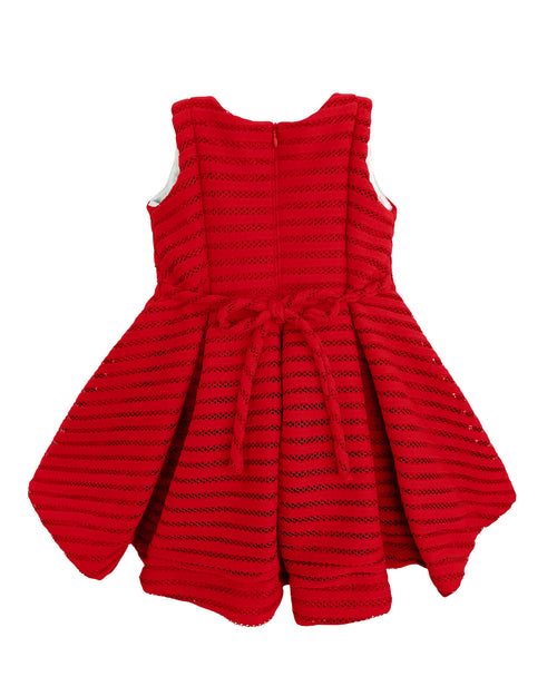 Helena and Harry Girl's Red Heavy Knit Stripe Dress