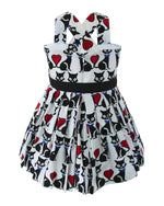 Helena and Harry Girl's White Kitty Cat Kisses Dress