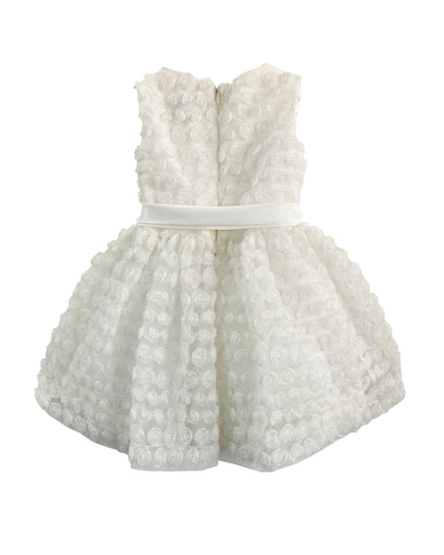 Helena and Harry Girl's White Cupcake Dress