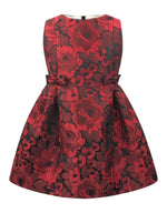 Helena and Harry Girl's Red Jacquard Dress