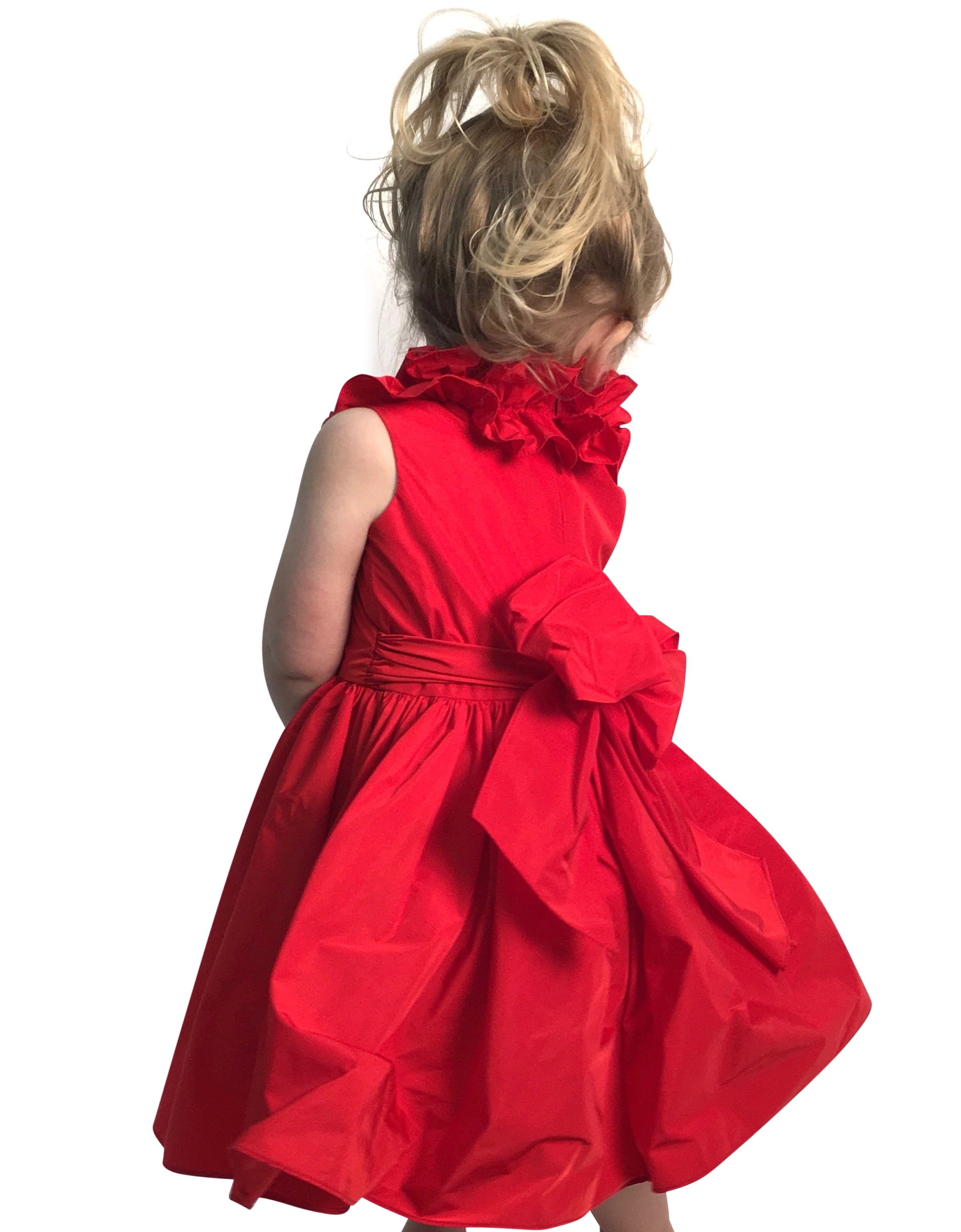 Helena and Harry Girl's Red Taffeta Dress
