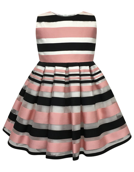 Helena and Harry Girl's Ivory Border Print Swing Dress