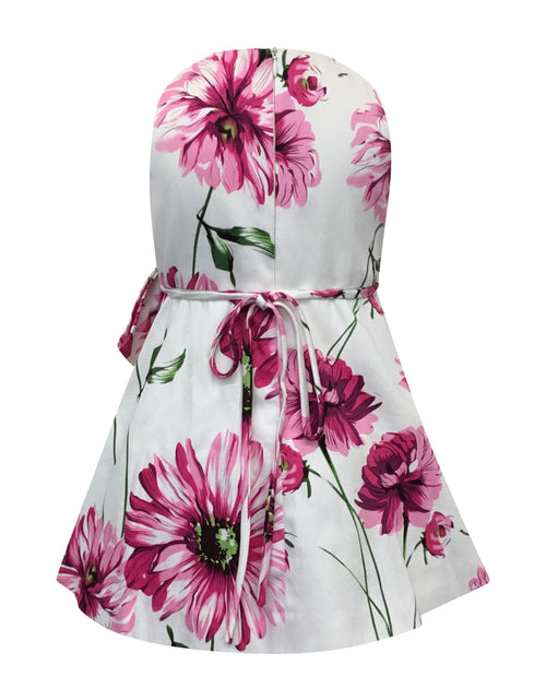 Helena and Harry Girl's Pink Peonies Dress