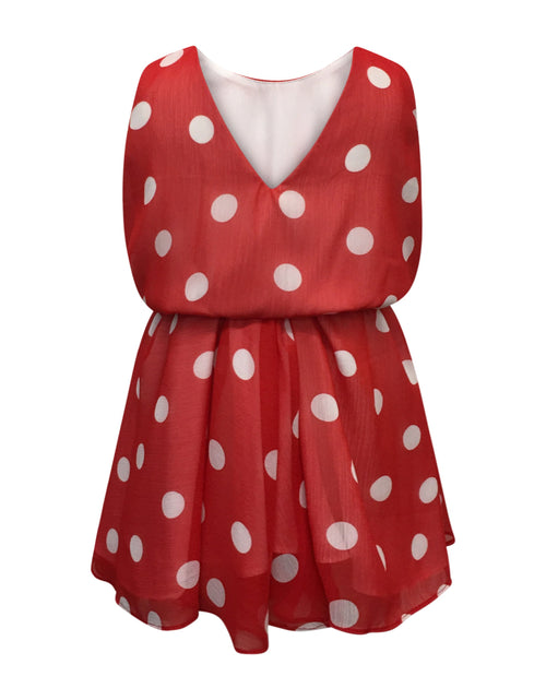 Helena and Harry Girl's Red with White Dots Dress
