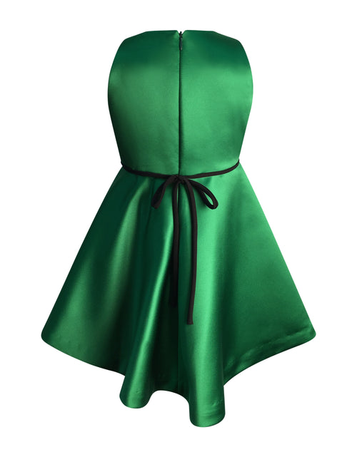 Helena and Harry Girl's Bright Green Satin Dress