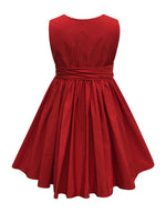 Helena and Harry Girl's Red Fine Cotton Wrap Dress
