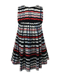 Helena and Harry Girl's Pleat Printed Knit Dress