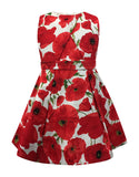 Helena and Harry Girl's Red Poppies Dress