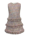 Helena and Harry Girl's Pastel Pink Tweed Dress