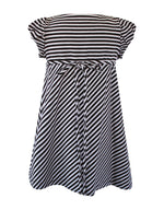 Helena and Harry Girl's Pink and Brown Striped Knit Dress