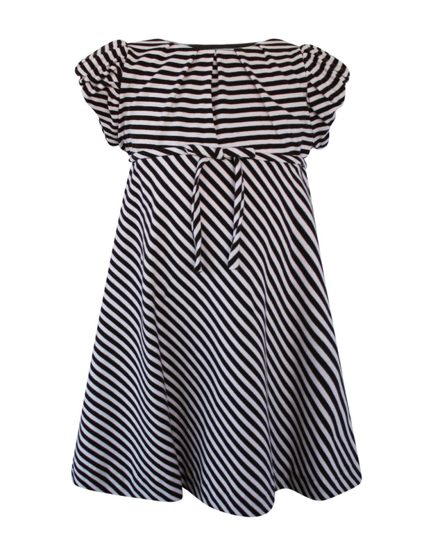 Helena and Harry Girl's Pink & Brown Striped Knit Dress