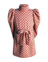 Helena and Harry Girl's Pink with Black Dots Sweater Dress