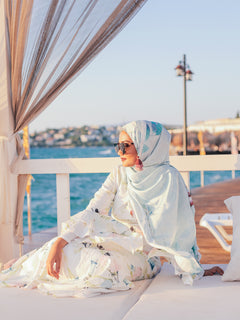 Pre order : Turkish Collection : Alacati 1.0 Minty Palm leaves