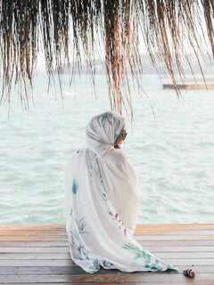 Pre order : Turkish Collection : Alacati 1.0 White Palm leaves