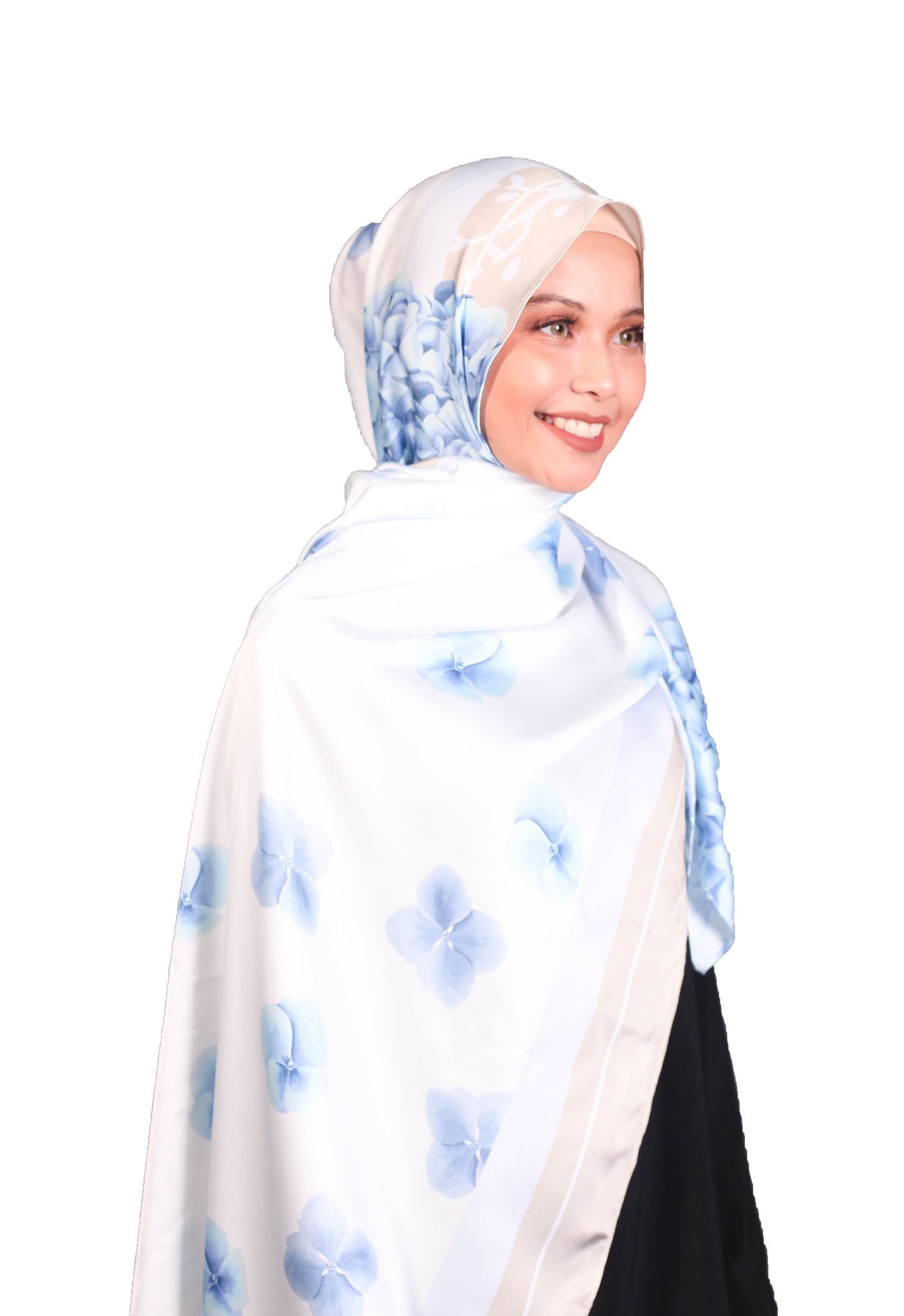 Bawal Satin Luxe - Hydranges
