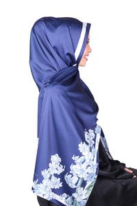 Eid Edition : Lalang Satin Luxe - Gem Blue