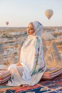 [PRE-ORDER] Turkish Collection : Cappadocia Nude Satin Luxe Scarf