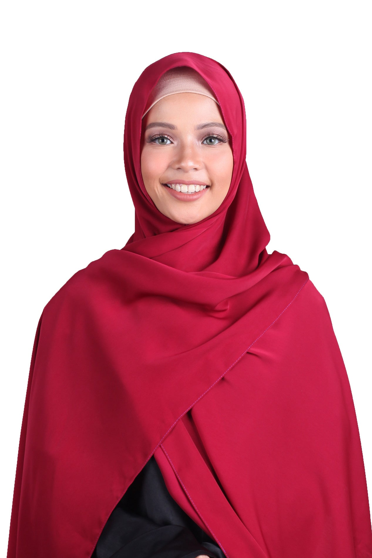 Luxe Antalya Scarf - Wine Red