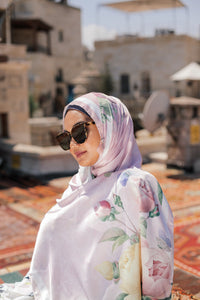 Turkish Collection : Cappadocia Pink Satin Luxe Scarf