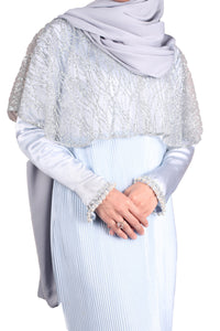 [PRE ORDER] Fatima Cape Dress - Baby Blue