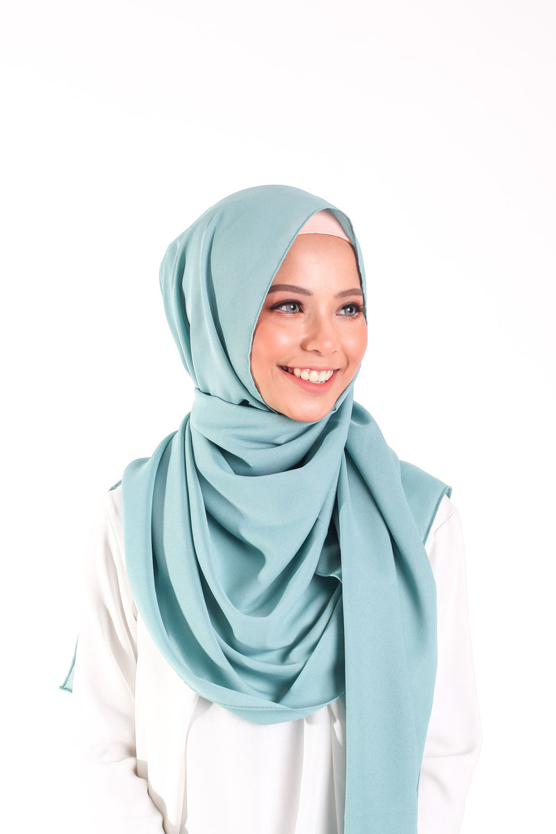 Comfy Crepe Scarf - Turqouise