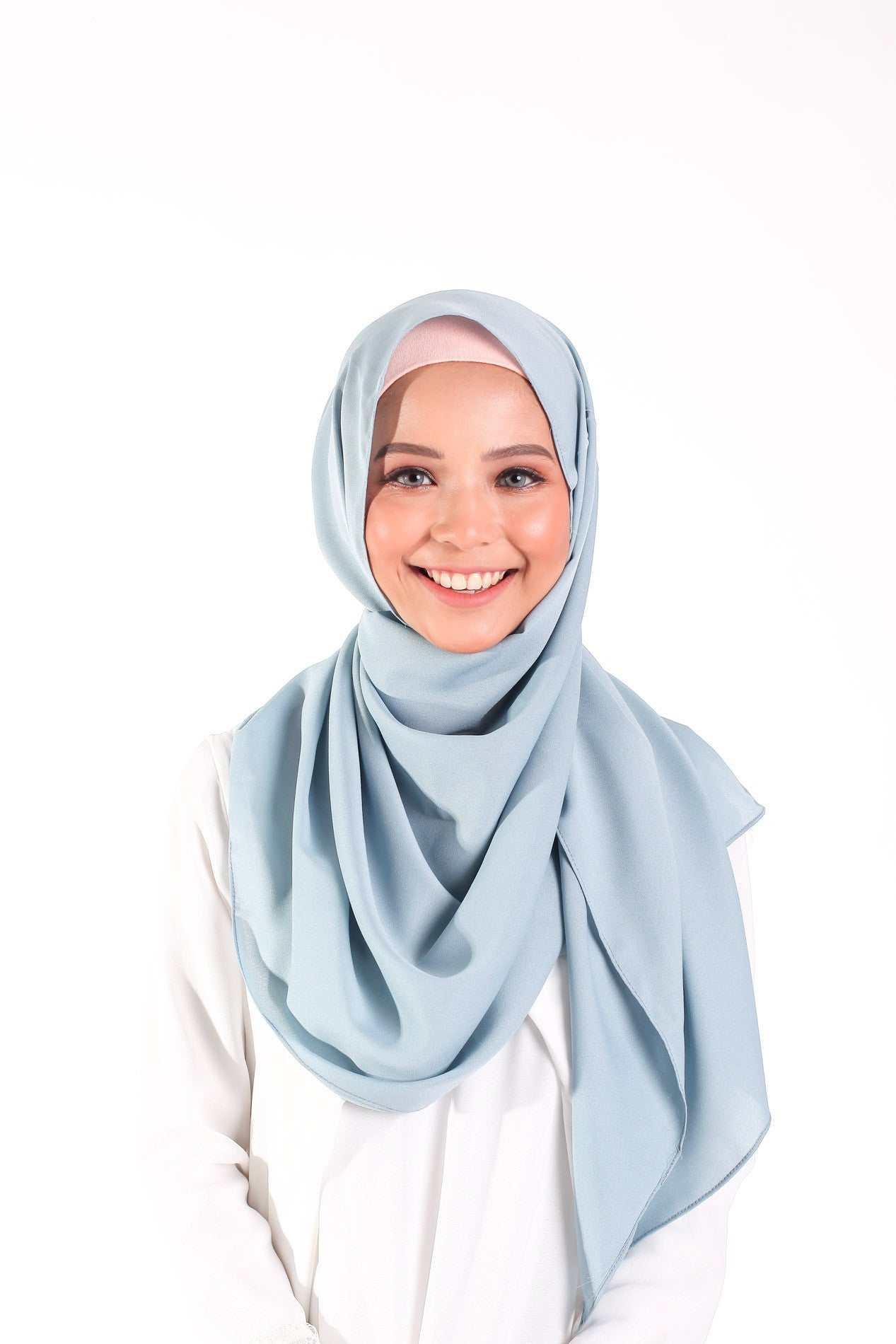 Comfy Crepe Scarf - Baby Blue