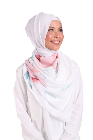 Flora Aura Bubble Scarf - Peachy