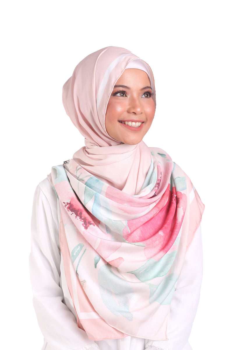 Gradiente Flora Aura Bubble Chiffon - Cotton Pink