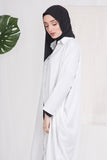 White Batwing Buttoned Down Shirt