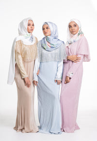 [PRE ORDER] Fatima Cape Dress - Dusty Pink