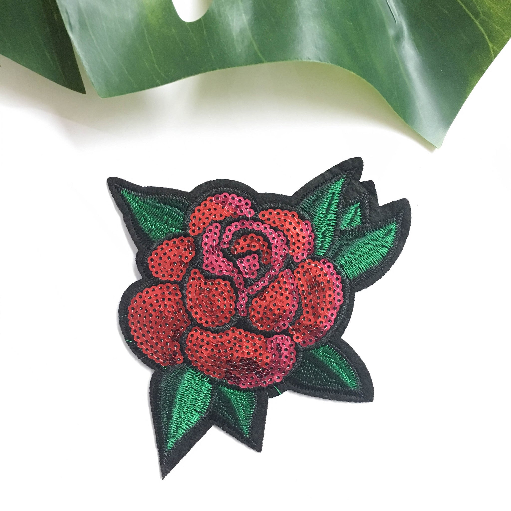 Iron on patches - Red rose
