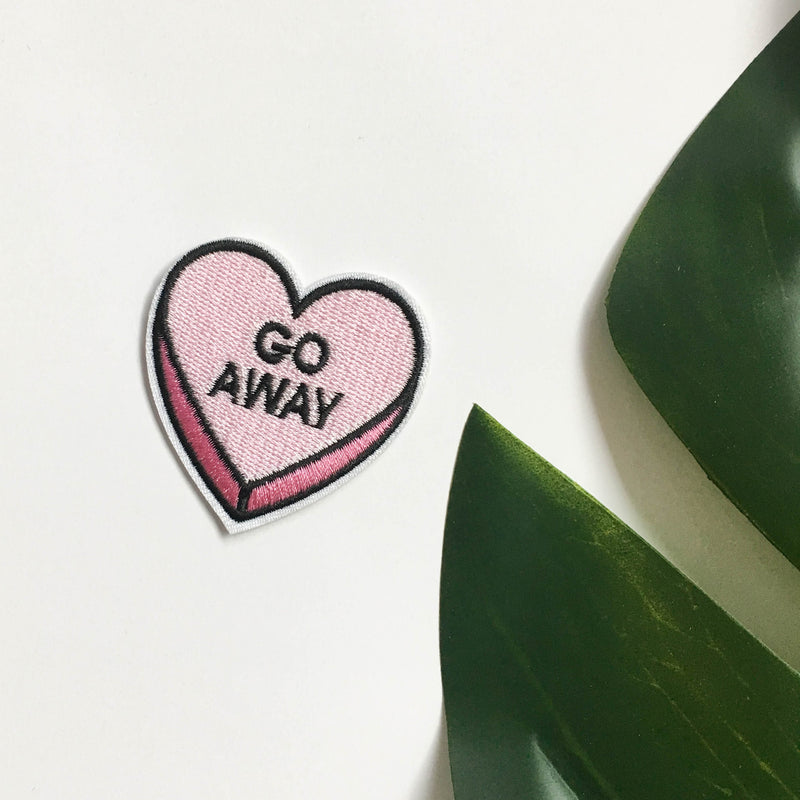 Iron on patches - Go away