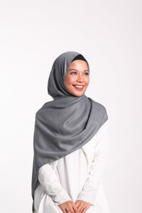 Glitter Comfy Crepe Scarf - Charcoal