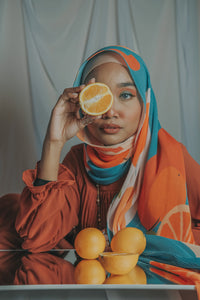 *PRE ORDER PLEATED FRESH FRUIT COLLECTION : ORANGE