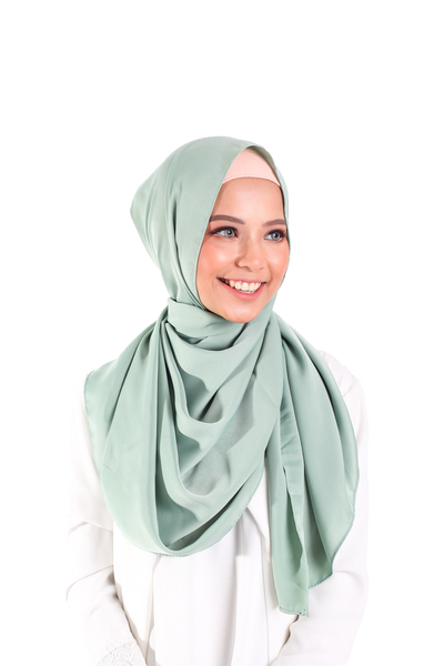 Satin matte scarf - Mint Green
