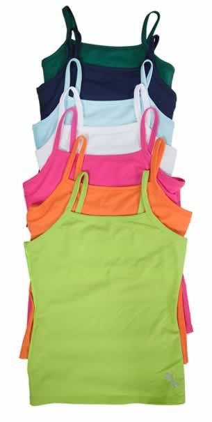 Un-Tee cami sports top (camisole with inner shelf bra) in 7 colors
