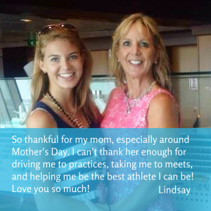 Lindsay: Thank you for helping me be the best athlete I can be!