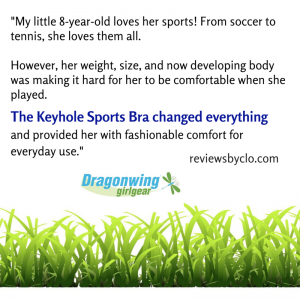 review Dragonwing sports bra: fashionable comfort for young girl