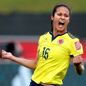 Lady Andrade, Colombia's goal