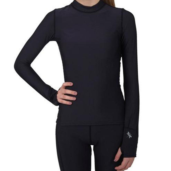 Chill Weight Thumbhole Sleeve Tee in Black, White and Royal Blue - Dragonwing girlgear