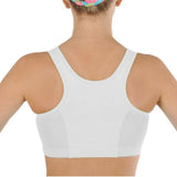 Mesh Racer Sports Bra for Girls -White with White Mesh - Dragonwing girlgear
